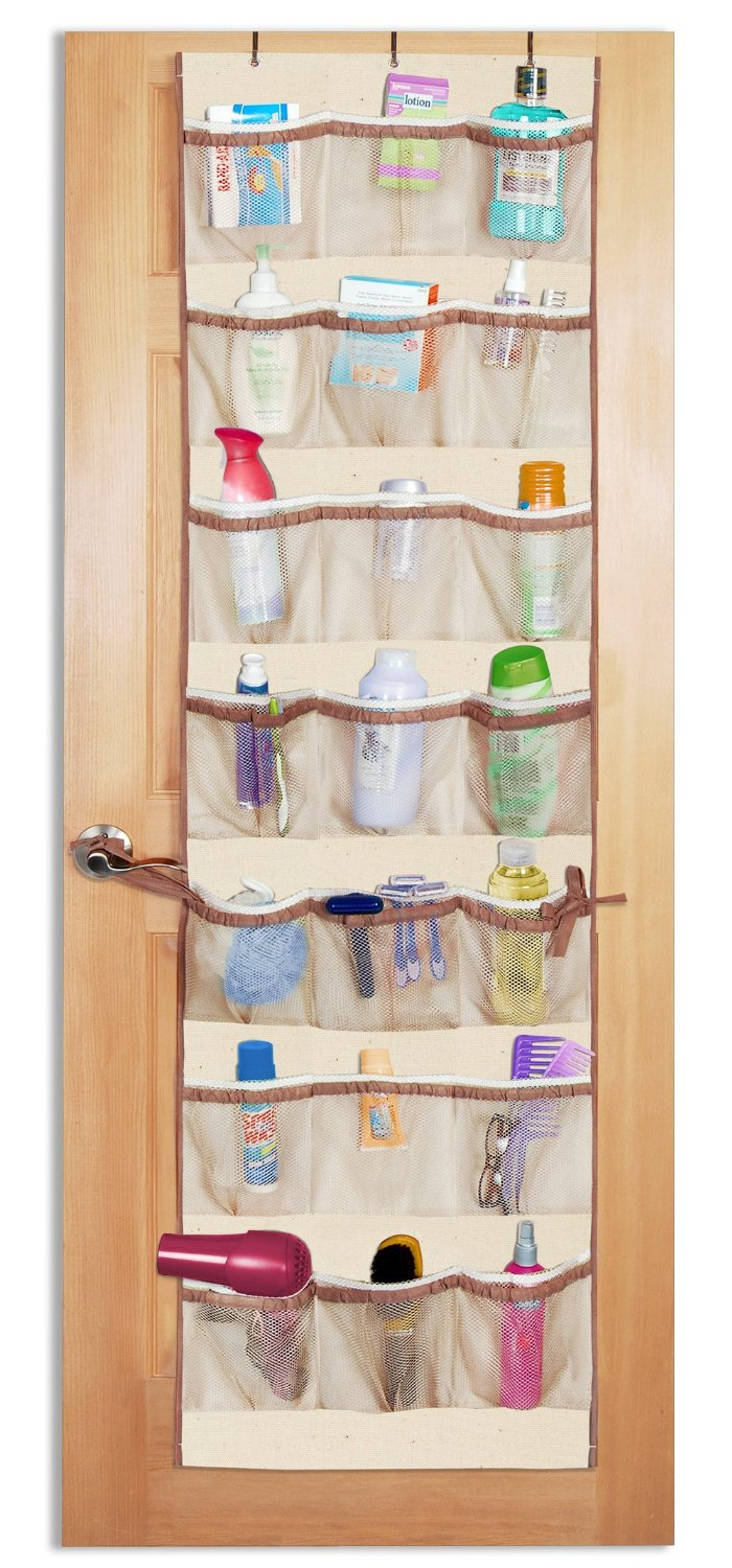 Organizing small spaces with over the door shoe organizers for Door organizer